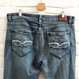 FLYPAPER Straight Denim Blue Jeans 38x32 Regular